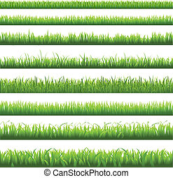 풀, 경계, 녹색
