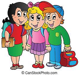 학교 어린이, 3, 행복하다