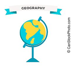 학교, 지구, 벡터, 세계, 지구, 교육, 아이콘