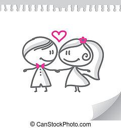 한 쌍, 만화, 결혼식