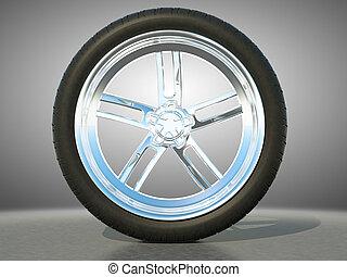 합금, 자동차 설계, 바퀴, 타이어