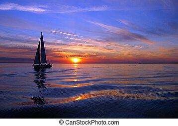 항해, 바다, 색