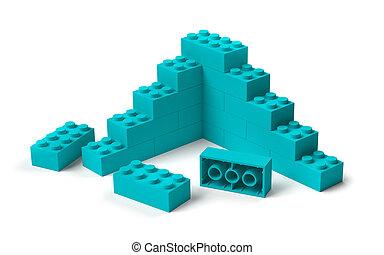 해석, 출발, 3차원, 구획, 건물, 장난감