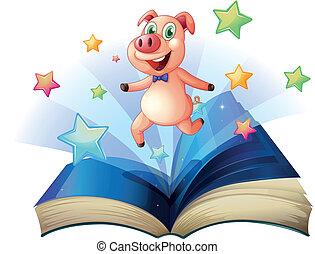 행복하게, 뛰는 것, 열린 책, 돼지