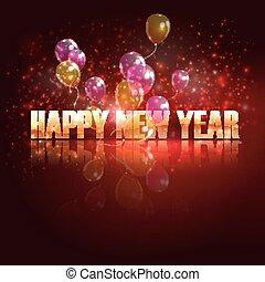 행복하다, 배경, year., 휴일, 나는 듯이 빠른, 새로운, 기구