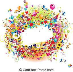 행복하다, ballons, 휴일, 구조, 혼자서 젓는 길쭉한 보트