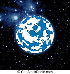 행성, 공간, 은하, 비어 있는