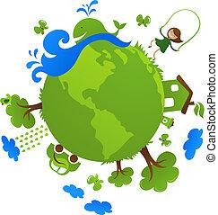 행성, 녹색
