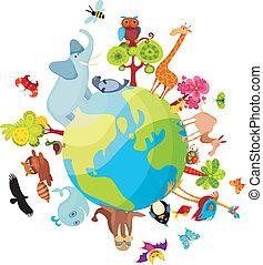 행성, 동물