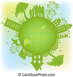 행성, 생태학의, 녹색