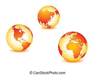 행성, 세계, 지구, 세계