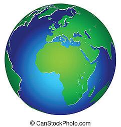 행성 지구, 세계, 아이콘, 세계