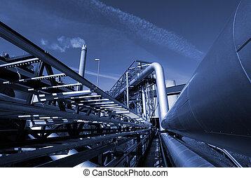 향하여, 푸른 하늘, 산업의, 악기의 음조를 맞추다, pipe-bridge, 파이프라인