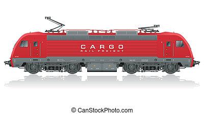 현대, 전기, 빨강, 기관차