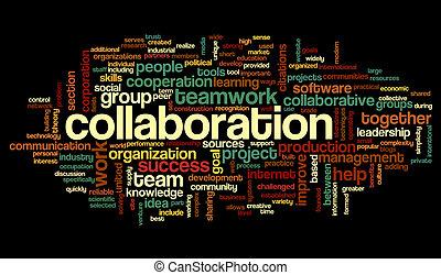 협력, 개념, 낱말, 구름, 꼬리표