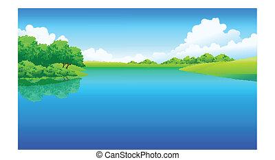 호수, 조경술을 써서 녹화하다, 녹색