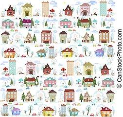혼자서 젓는 길쭉한 보트, 겨울, 수집, 집, 디자인, 나무, 너의