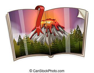 화산, 책, 장면