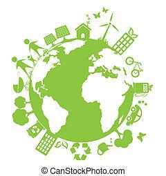 환경, 녹색, 날씬한