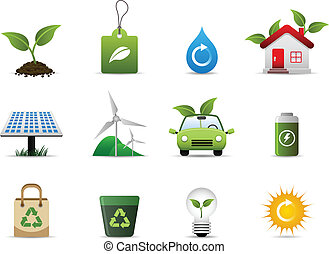환경, 녹색, 아이콘