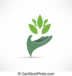 환경, 생태학의, 아이콘