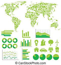 환경, 생태학, infographics