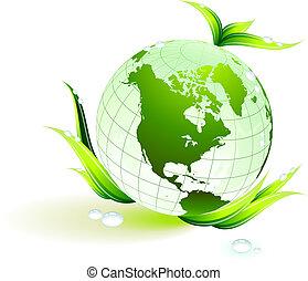 환경, 지구, 보존, 녹색의 배경