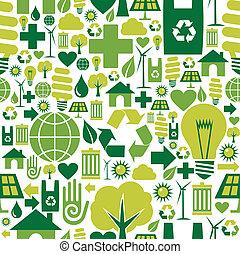 환경, 패턴, 녹색의 배경, 아이콘