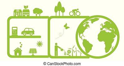 환경, eco, 날씬한
