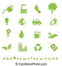 환경, eco, 아이콘