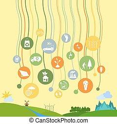 환경, infographic, 생태학