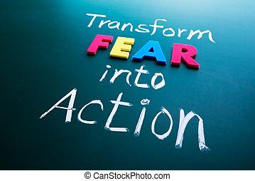 활동, 공포, 개념, 변환