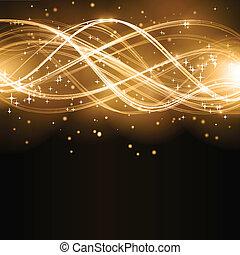 황금, 떼어내다, 파도, 은 주연시킨다, 패턴
