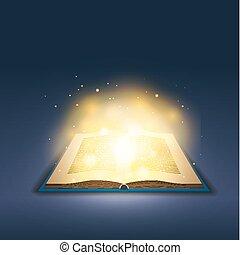 황금, 마술, 빛, 암흑, 책, 열려라