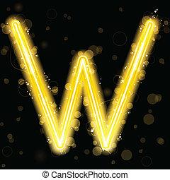 황금, 은 번쩍인다, 편지, 반짝임, 알파벳