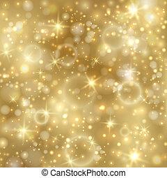 황금, twinkly, 은 주연시킨다, 배경, 은 점화한다