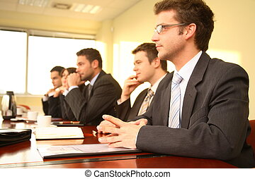 회의, 사람, 5, 사업