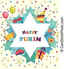 휴일, 휴일, purim, david, 별, 유태인, 물건