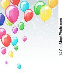 휴일, balloons., 배경