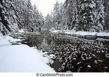 흰 서리, 강