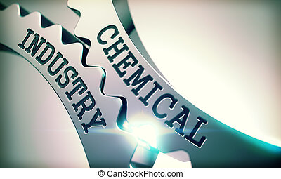 -, 산업, 금속, 우주기계론, 화학이다, gears., 3d.