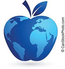 -, 세계, 세계, 애플, 마을