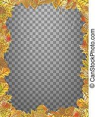 10, 다채로운, 구조, leaves., eps, 가을, 벡터