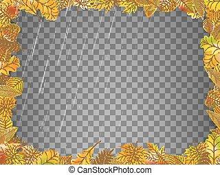 10, 잎, eps, 가을, 벡터, template.