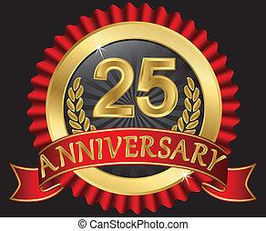 25, 년, 황금, 기념일