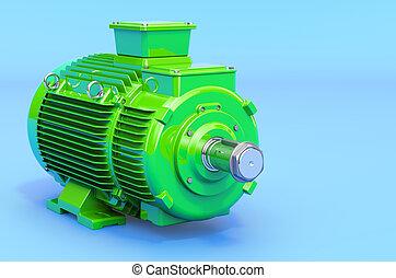 3차원, 모터, 지방의 정제, 전기, 녹색, 산업의