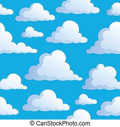 3, 구름, seamless, 배경