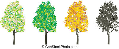 4 절기, 나무