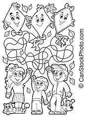 9, 미로, 칠하기 그림책, 아이들