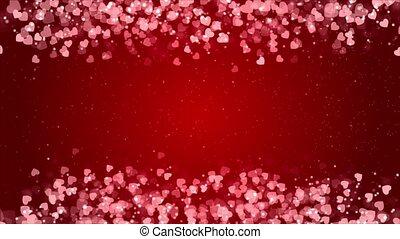 animation., 떼어내다, 배경, 고리, 번쩍이는, 심혼은 형성한다, 밝은 빨강
